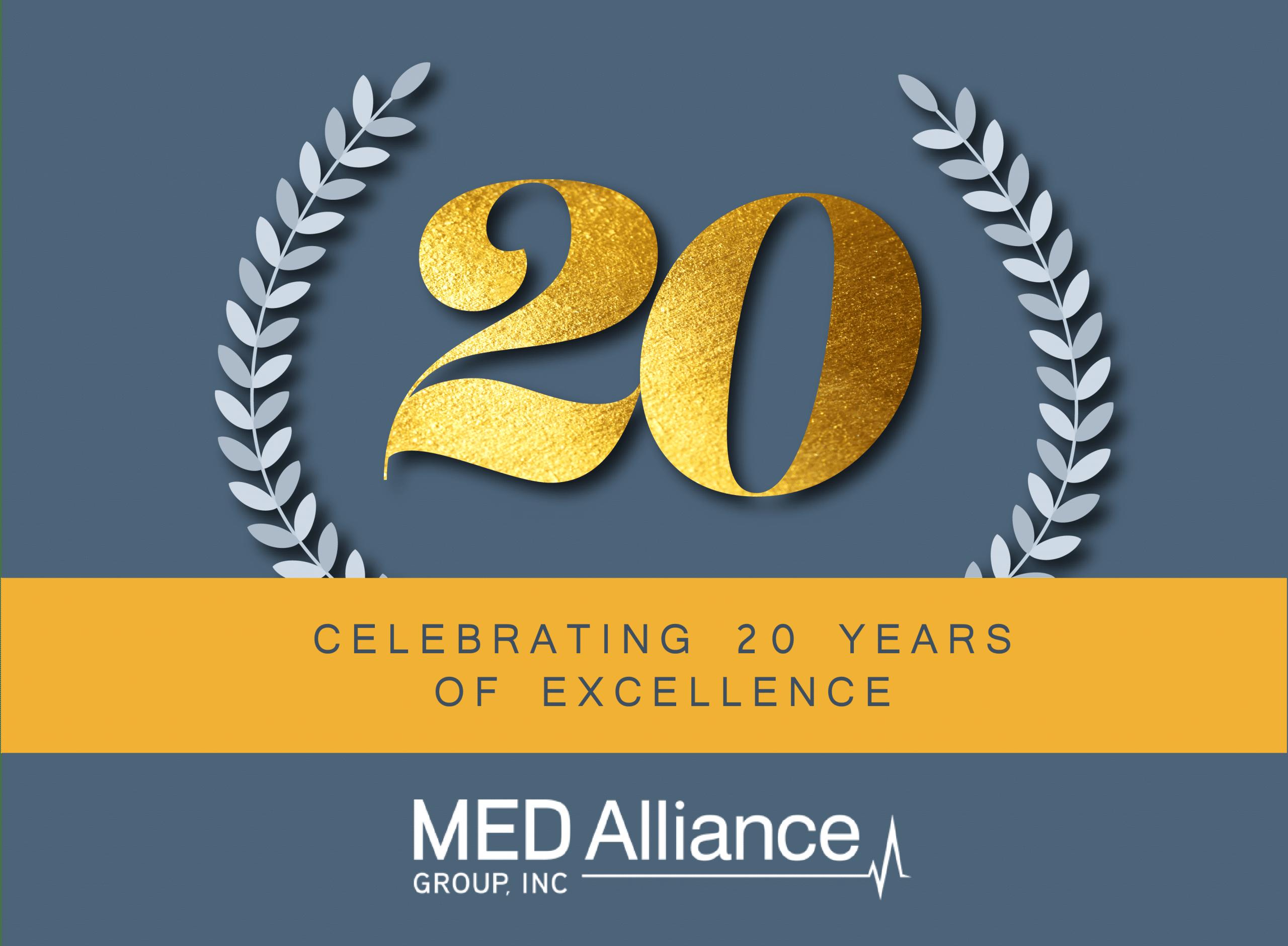 MED Alliance 20th Anniversary Logo
